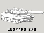 3mm Leopard 2A6 Tanks (24pcs)