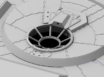 Millennium Falcon Turret Window DeAg Studio Scale