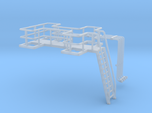 N Scale Tank Farm walkway, ladder and pipes
