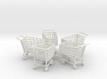 5 Miniature Shopping Trolleys (Linked)