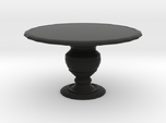 1:12 One Inch Scale Miniature Round Dining Table