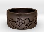 """IDIC"" Vulcan Script Ring - Engraved Style"