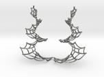 Spiral Spider Web Earrings