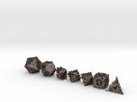 Steampunk Polyhedral Dice Set
