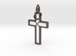 Cross & Thorns Frame Pendant