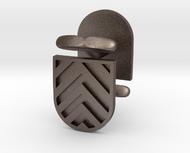 Chevronny Rounded Shield Cufflinks