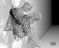 Tied Hands Sculpture Wireframe - 260mm