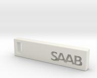 Saab Billet Keychain