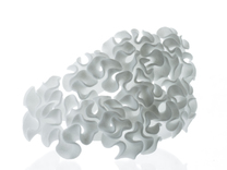 Celosia Cuff sz M | floraform collection in White Strong & Flexible Polished