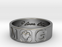 M and G Size 10 in Raw Silver