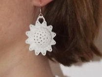 AstrosphaeraEarrings in White Strong & Flexible