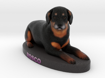 Custom Dog Figurine - Rosco in Full Color Sandstone