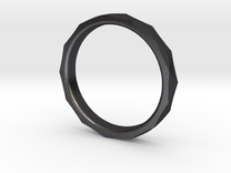 Engineers Ring Size 8.5 in Polished Grey Steel