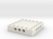 CustomMaker BrickFrame 6x6x3 With Axle Mounts in White Strong & Flexible