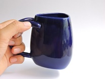 Tulip Cup in Gloss Cobalt Blue Porcelain
