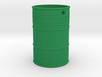 Steel Barrel Keychain in Green Strong & Flexible Polished