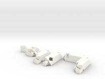 3way Joint Set (Kawai Tsugite) in White Strong & Flexible Polished