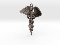 Caduceus pendant in Stainless Steel