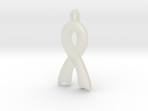 Invisible illness Ribbon Pendant in Transparent Acrylic
