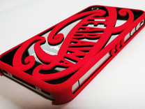 Te Arawa iPhone 4 cover in Red Strong & Flexible Polished