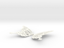 Kirika Butterfly Hair Accessories in White Strong & Flexible Polished