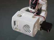 3-Axis gimbal (pan tilt roll) for GoPro camera in White Strong & Flexible