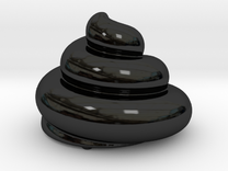 Porcelain - Archimedean Turd in Gloss Black Porcelain