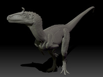 1/40 Cryolophosaurus - Standing in White Strong & Flexible