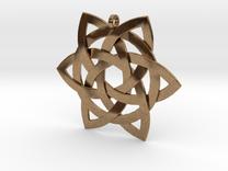 Celtic-star-pendant in Raw Brass