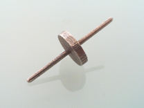 Spinning Top in Polished Bronze Steel