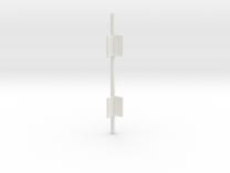 Outside Corner Bar V3 in White Strong & Flexible