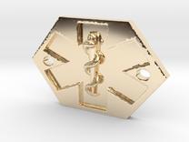Med Alert Bracelet Charm in 14k Gold Plated