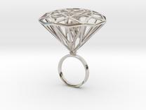 Diamond Bird Steel size 17.5 mm in Rhodium Plated