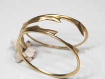 Stag Bangle in Raw Brass