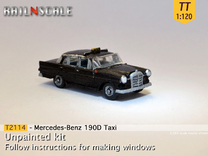 Mercedes-Benz 190D Taxi (TT 1:120) in Frosted Ultra Detail