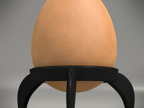 Egg Rocket Tripod Cup in White Strong & Flexible