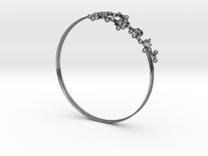 Oxytocin Bracelet 75mm Embossed in Premium Silver