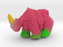 Lumber Rhino (2'' tall Painted)  in Full Color Sandstone