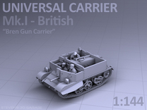 Universal Carrier Mk.I - (1:144) in Frosted Ultra Detail