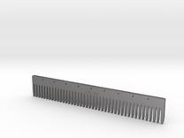 Comb Ruler in Polished Nickel Steel