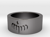 SPECTRE ring - mens size 9.75 in Polished Nickel Steel