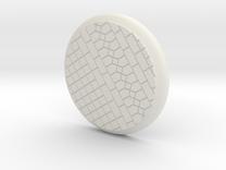 35mm Base - Tiled floor  in White Strong & Flexible