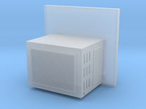 O Scale Window Mounted AC Unit in Frosted Extreme Detail