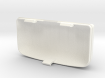 Fiat 126 interior light cover in White Strong & Flexible Polished