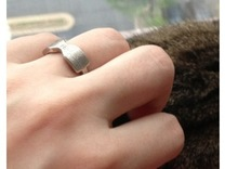Thick Bowtie Ring in Premium Silver