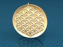 Flower Of Life Pendent in Stainless Steel