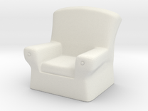 28mm scale Arm Chair  in White Strong & Flexible