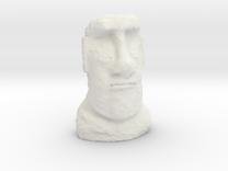 28mm/32mm scale Moai Head  in White Strong & Flexible