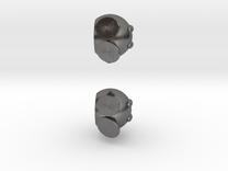 Bobomb Stud Earrings in Polished Nickel Steel