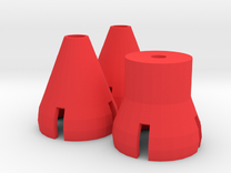 Gorilla Hands - Cones and Post in Red Strong & Flexible Polished